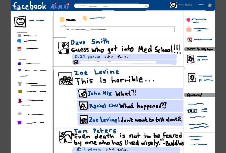 Annoying Facebook Newsfeed