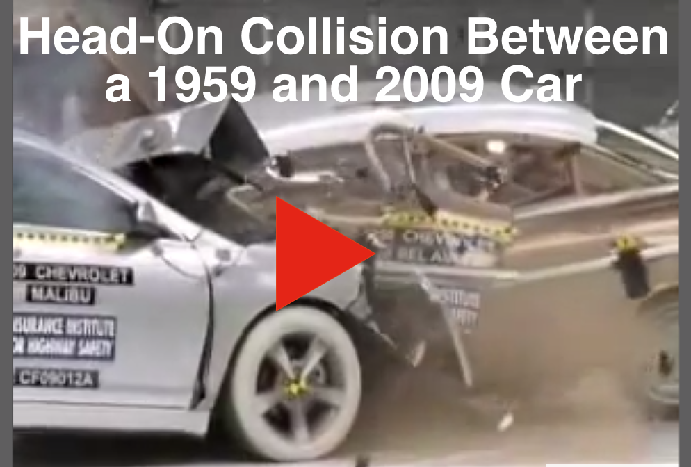 Head-On Collision Between 1959 Car and 2009 Car - Wait But Why