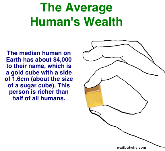 average human wealth