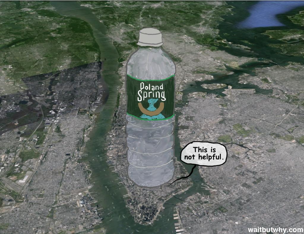 Huge water bottle
