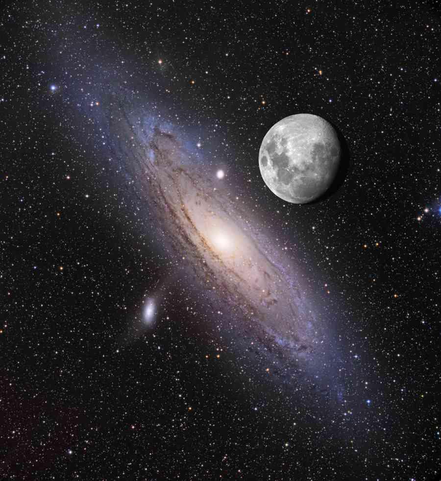 Andromeda composite (NASA)