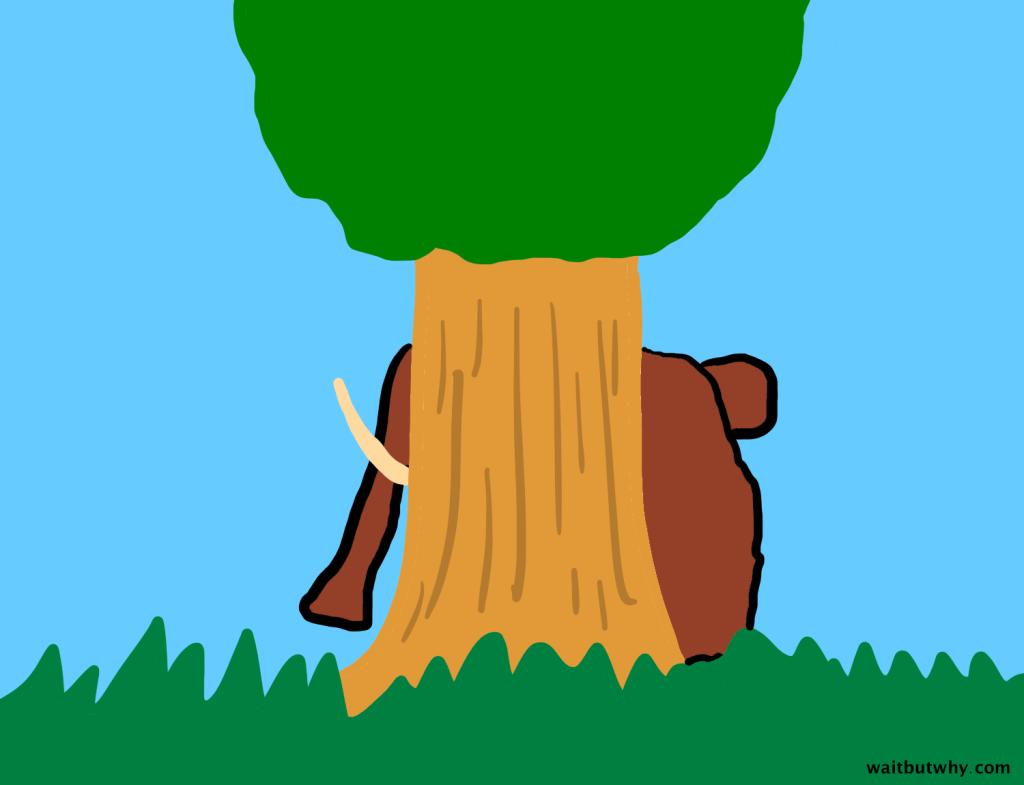 mammoth hiding
