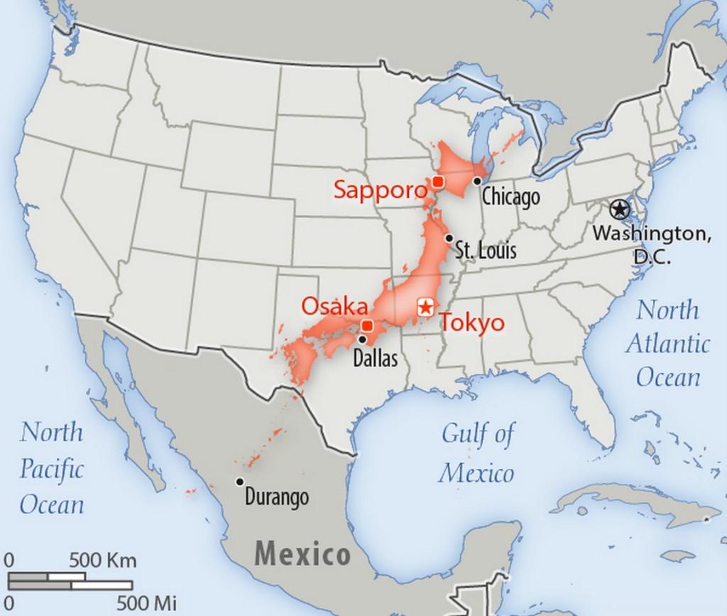 Japan US Land Comparison