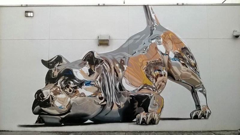 chrome-dog-mural-by-bikismo-art-basel-miami-2014-1