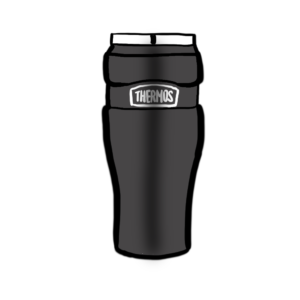 drawing of tim's thermos, his favorite product