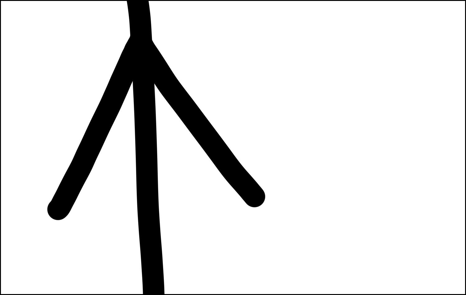 zoom in on stick figure's left arm