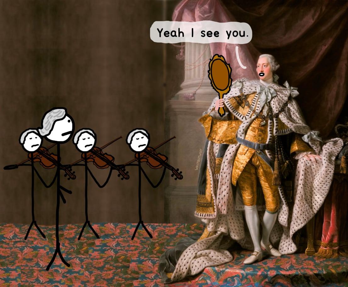 King George: Yeah I see you.