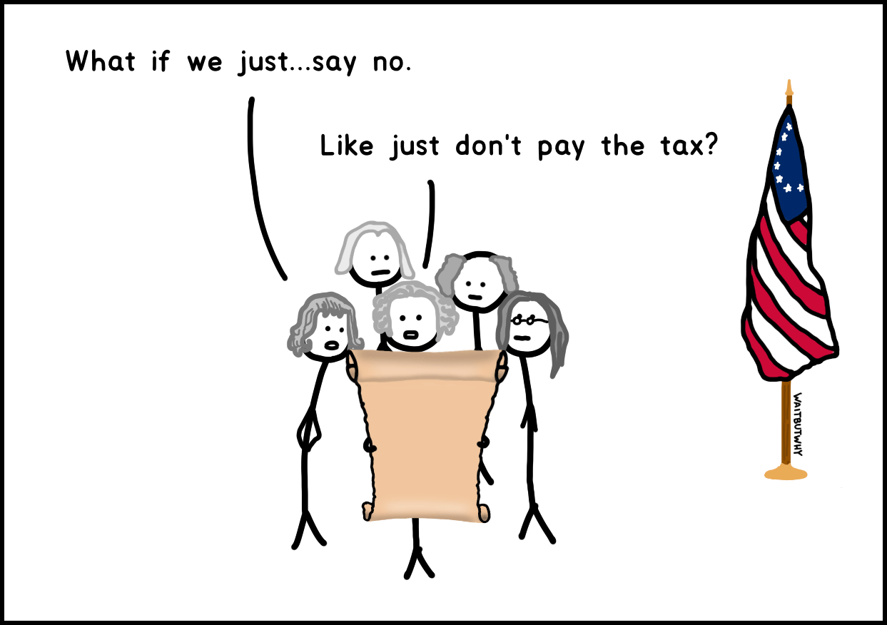 What if we just... say no. / Like just don't pay the tax?