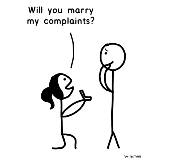 Tandice on one knee proposing to Tim: Will you marry my complaints?