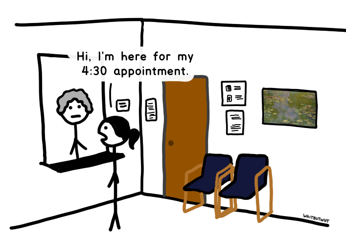Tandice: Hi, I'm here for my 4:30 appointment.